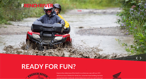 French River ATV Tours website
